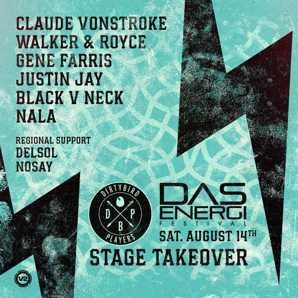 Dirtybird Records lineup for the Galactic Flats