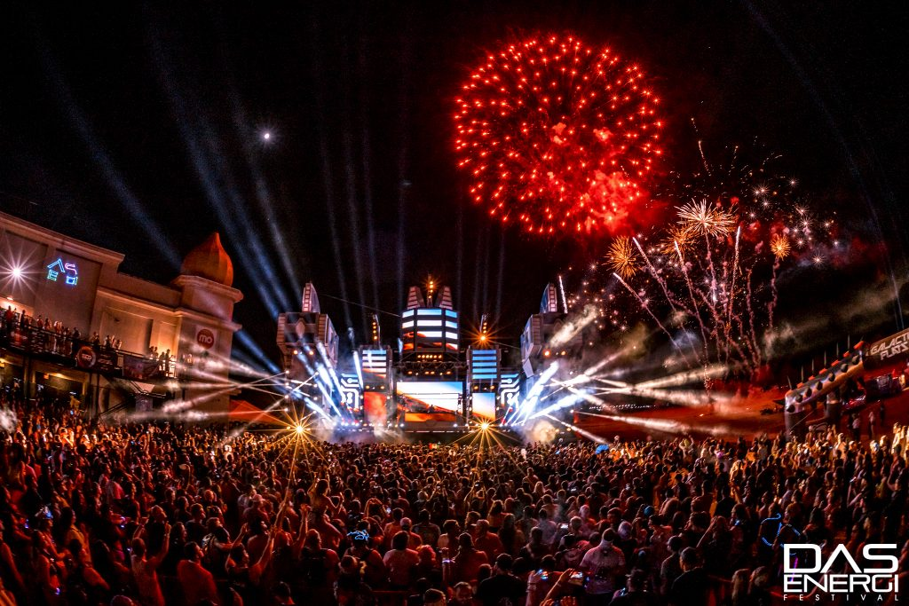 The main stage at Das Energi Festival.