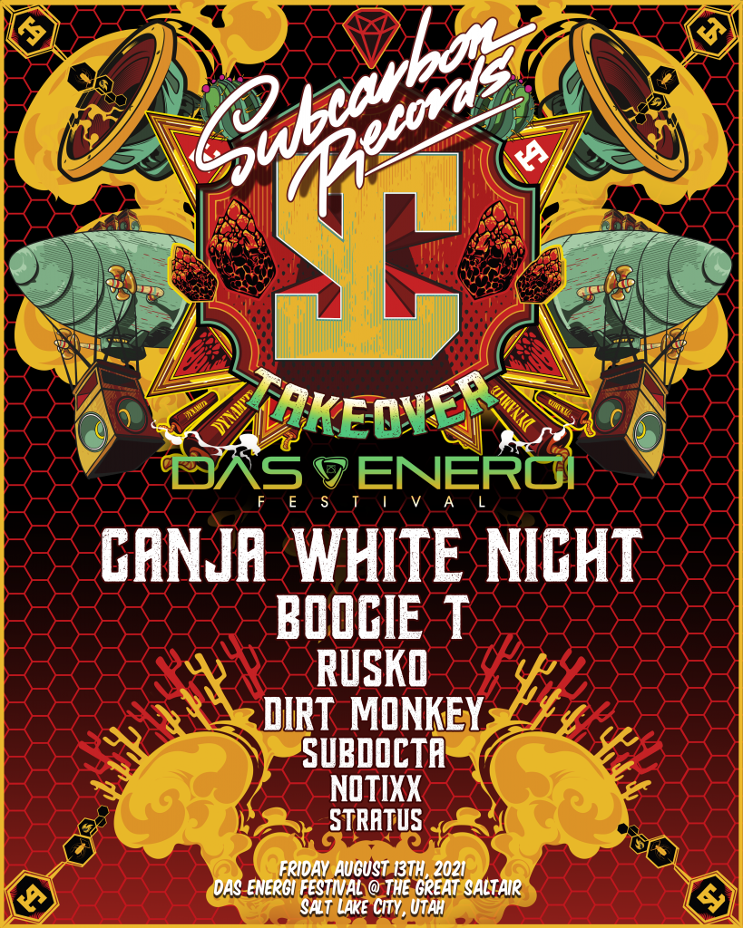 The SubCarbon Records takeover lineup for Das Energi Festival